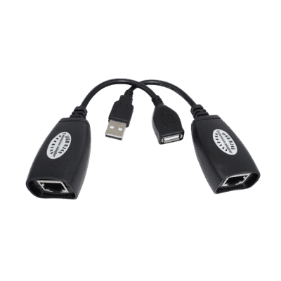 Passive USB Over Cat 5e/6 RJ45 Extender 45m