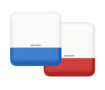 Hikvision DS-PS1-E-WE Red or Blue Wireless Outdoor Alarm Sounder