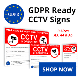 GDPR Compliant CCTV warning signs