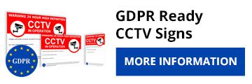 GDPR Compliant CCTV warning signs