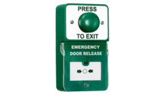 RGL DU-GB/PTE Dual Unit Green Exit Button with Emergency Door Release