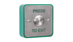 RGL EBSS02/PTE Stainless Steel Surface Mount Push to Exit Button