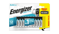 Energizer Max Plus AAA 10 Pack Long life Alkaline