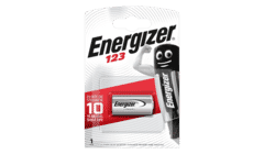 Energizer CR123 Lithium 3v Battery Single Pack