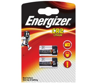 Energizer CR2 Lithium 3v Battery Twin Pack