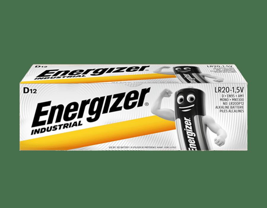 Energizer Industrial Alkaline D Batteries 12 Pack