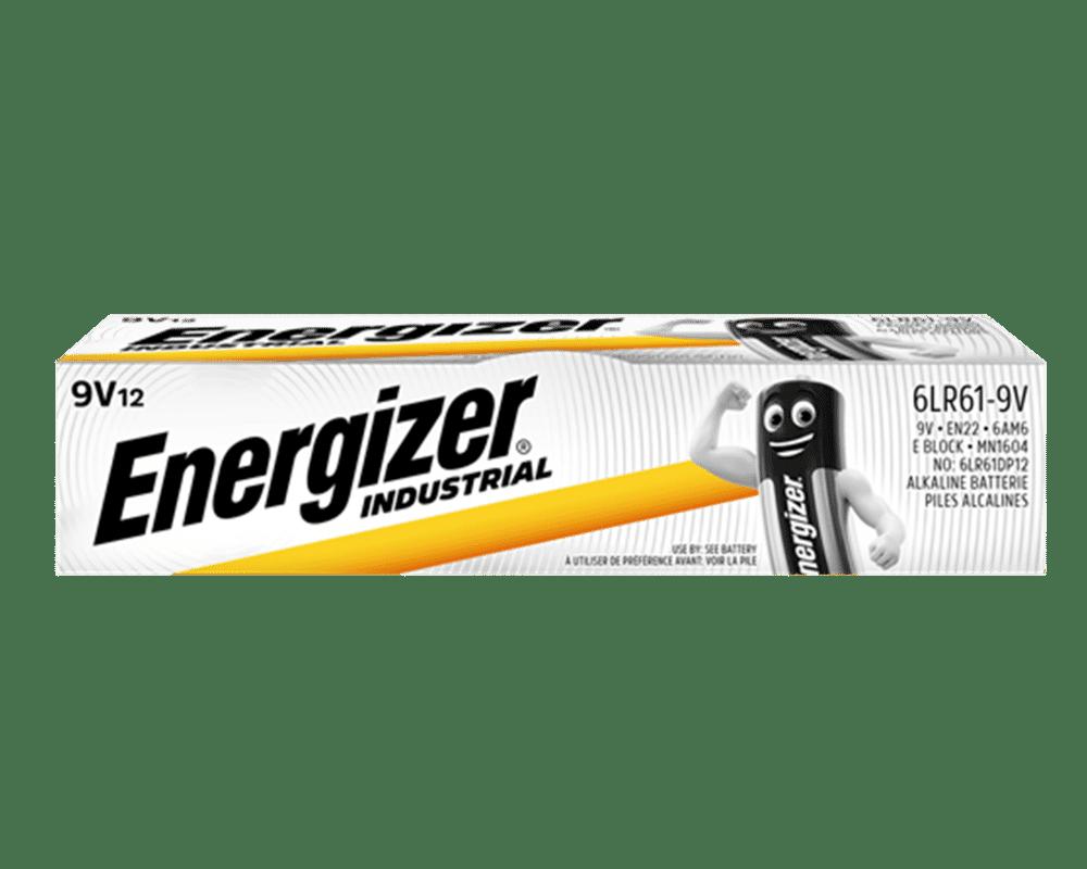 Energizer Industrial Alkaline PP3 9V Batteries 12 Pack