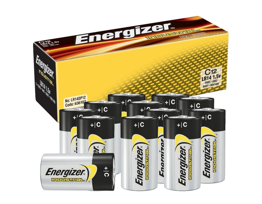 Energizer Industrial Alkaline C Batteries 12 Pack