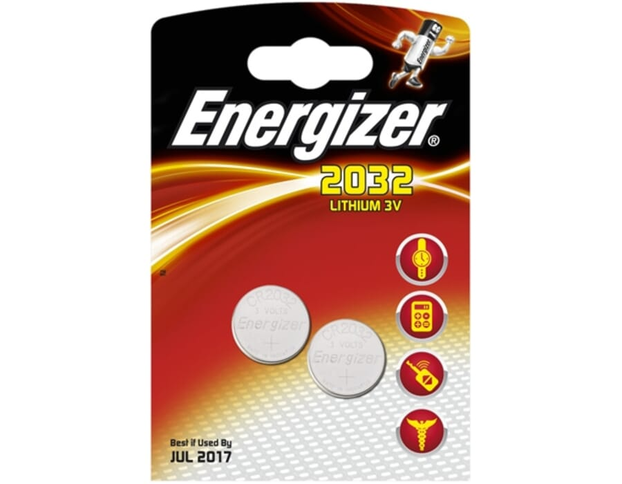 Energizer 2032 Lithium Coin 3v Batteries Twin Pack