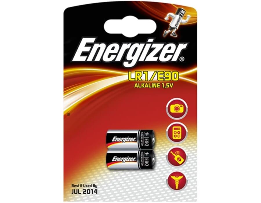 Energizer LR1 | E90 Alkaline 1.5v Twin Pack Batteries