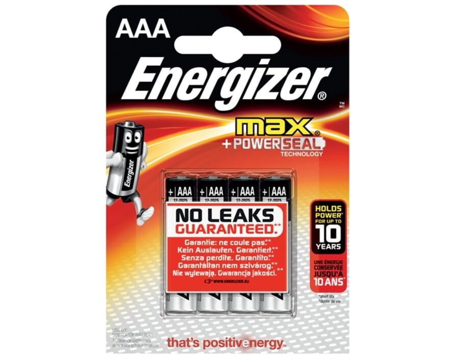 Energizer MAX® Alkaline AAA Batteries 4 Pack