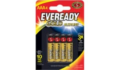 Eveready Alkaline Gold AAA Batteries 4 Pack