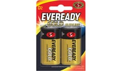 Eveready Alkaline Gold D Batteries Twin Pack