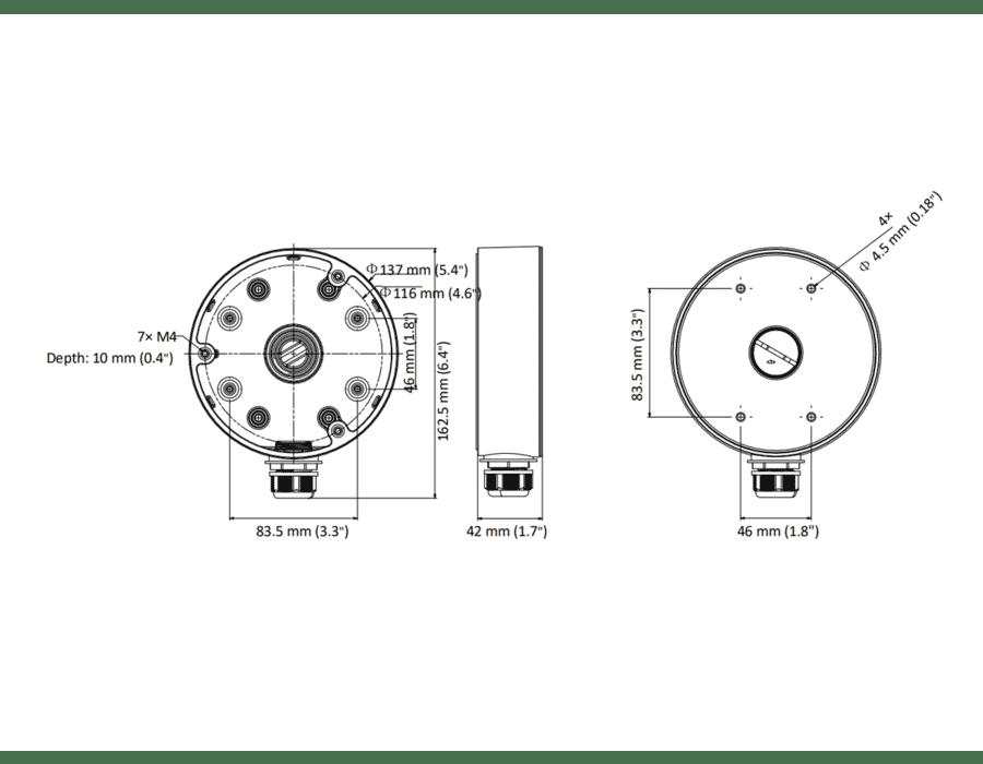 Hikvision DS-1280ZJ-DM21 Camera Junction Box Deep Base