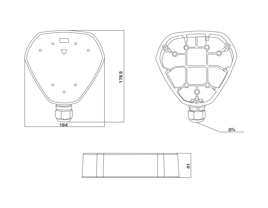 Hikvision DS-1280ZJ-DM25 Junction box