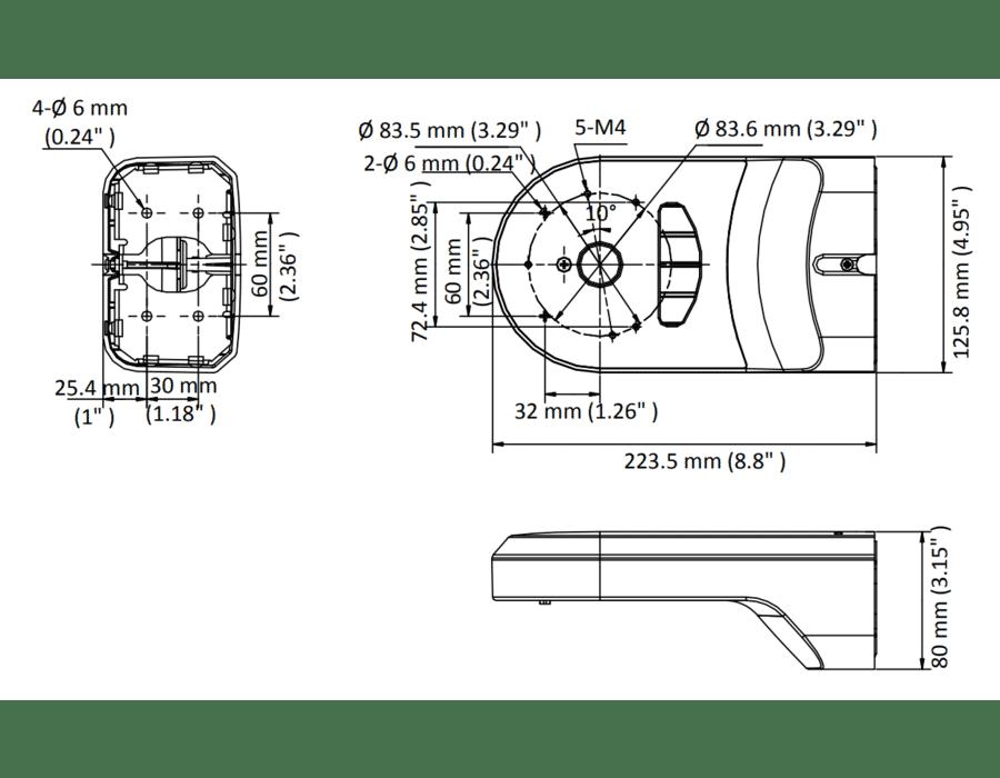 Hikvision DS-1294ZJ-PT Mini PTZ Wall Bracket