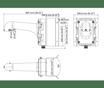 Hikvision DS-1604ZJ-CORNER PTZ corner mount with junction base