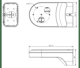 HiLook HIA-B404-PT Mini PTZ Camera Wall Bracket