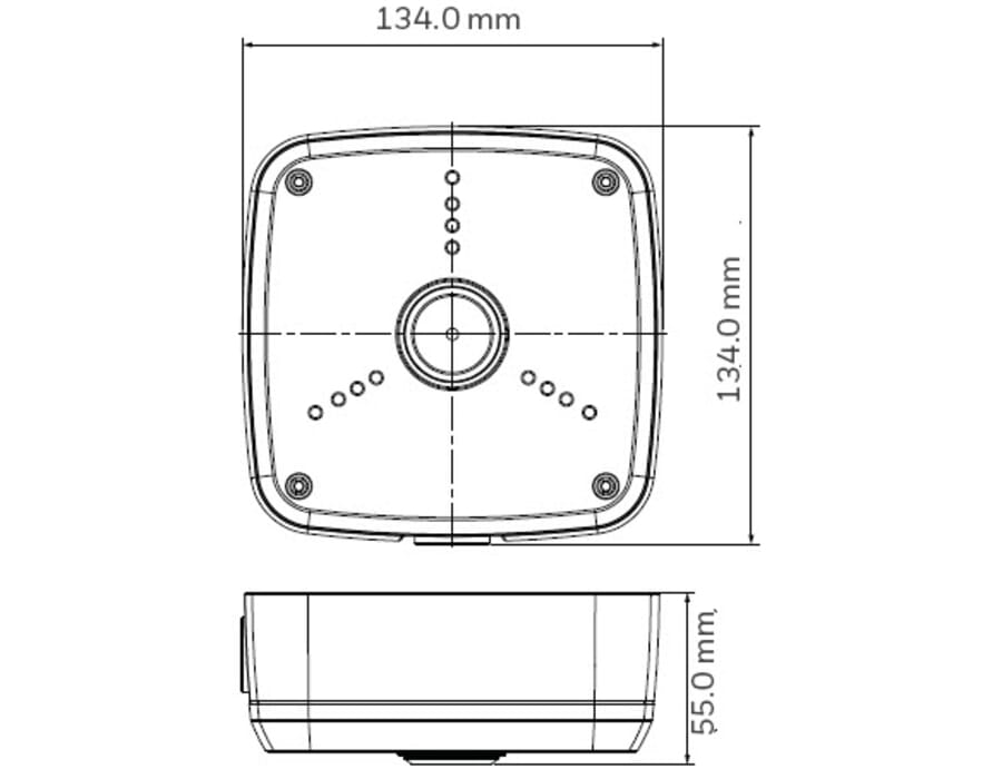 Honeywell HBS2-BB Camera Base Junction Box White