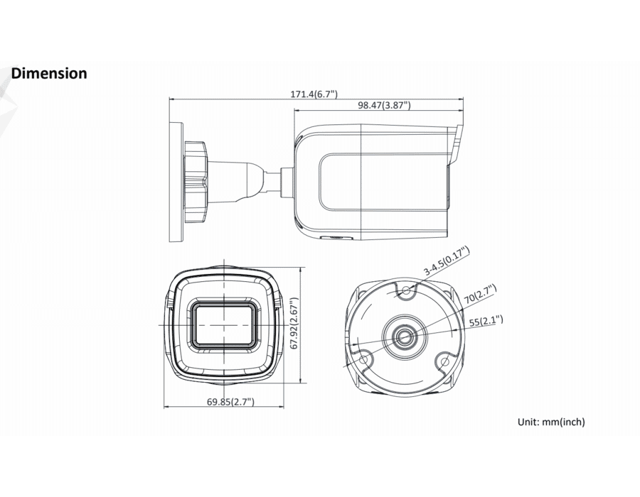 Hikvision DS-2CD2065G1-I 6MP IP Mini Bullet 2.8MM