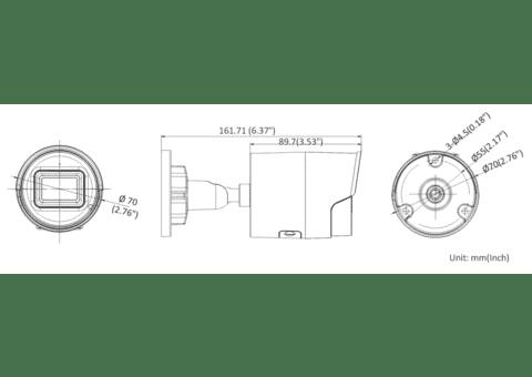 Hikvision DS-2CD2066G2-IU 6MP IP Acusense Mini Bullet 2.8mm