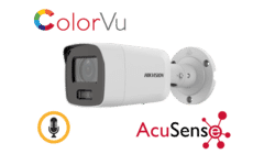 Hikvision DS-2CD2087G2-LU 8MP IP AcuSense Colorvu Mini Bullet 2.8mm