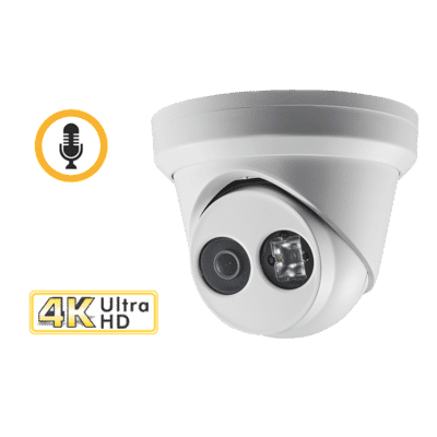 Hikvision DS-2CD2383G0-IU 8MP 4K IP Turret with Mic 2.8MM