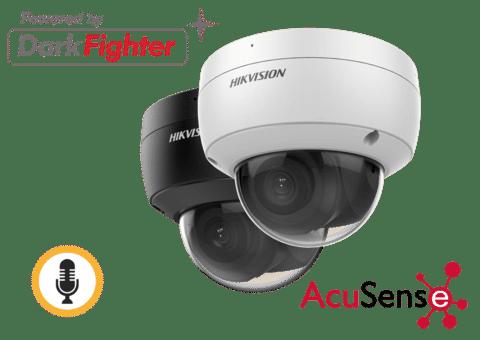 Hikvision DS-2CD2186G2-ISU 8MP 4K IP Acusense Dome with Audio