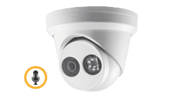 Hikvision DS-2CD2323G0-IU 2MP IP Turret with Mic 2.8MM