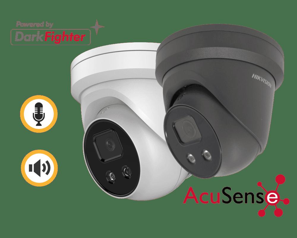 Hikvision DS-2CD2346G2-ISU/SL 4MP IP Acusense Turret Siren Strobe
