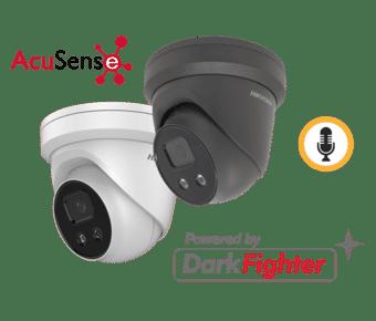 Hikvision DS-2CD2346G2-IU 4MP IP Acusense Audio Turret