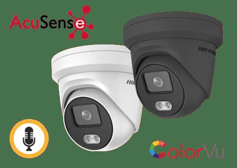 Hikvision DS-2CD2347G2-LU 4MP IP ColorVu Acusense Audio Turret
