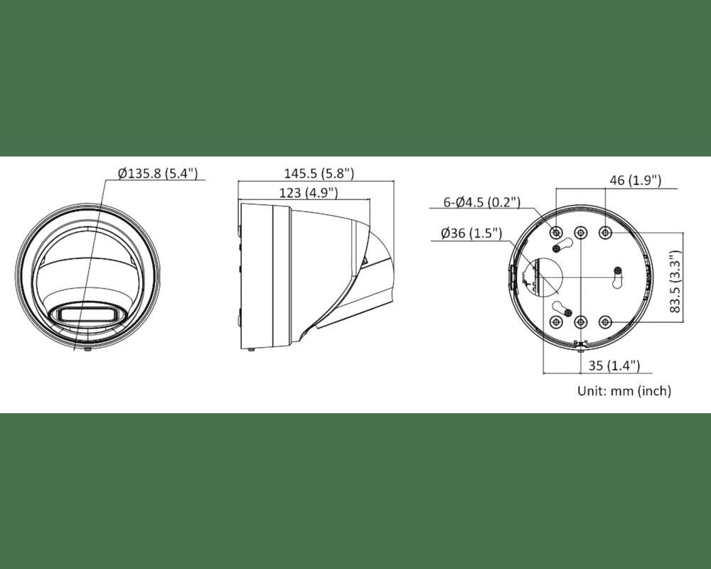 Hikvision DS-2CD2H46G2-IZS 4MP IP AcuSense Turret MFZ 2.8-12mm