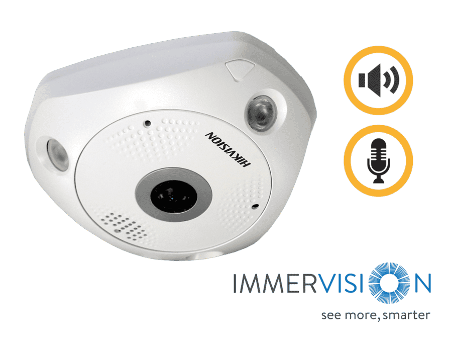 Hikvision DS-2CD63C5G0-IVS 12MP IP Fisheye Camera 1.29MM