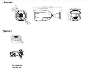 Hikvision DS-2CE12DFT-PIRXOF 2MP Colorvu PIR Bullet 3.6mm