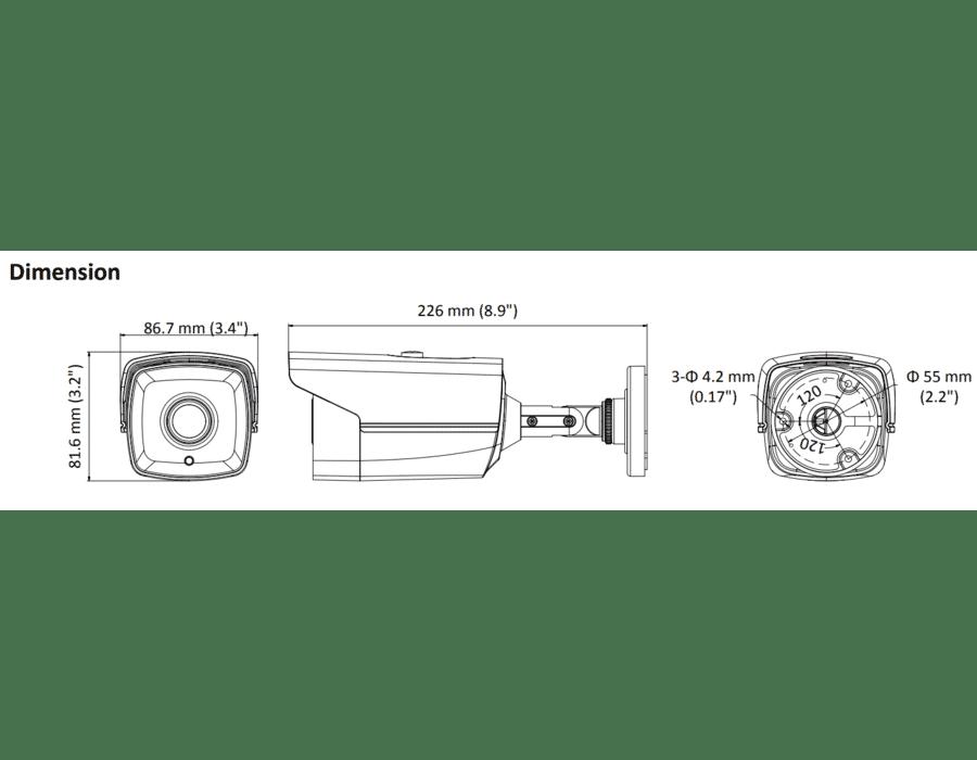 Hikvision DS-2CE16D0T-IT5E 2MP TVI Bullet 3.6mm 80M Infrared