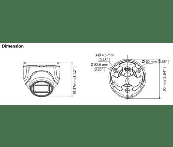 Hikvision DS-2CE76U1T-ITMF 8MP 4K TVI Mini Turret 2.8mm