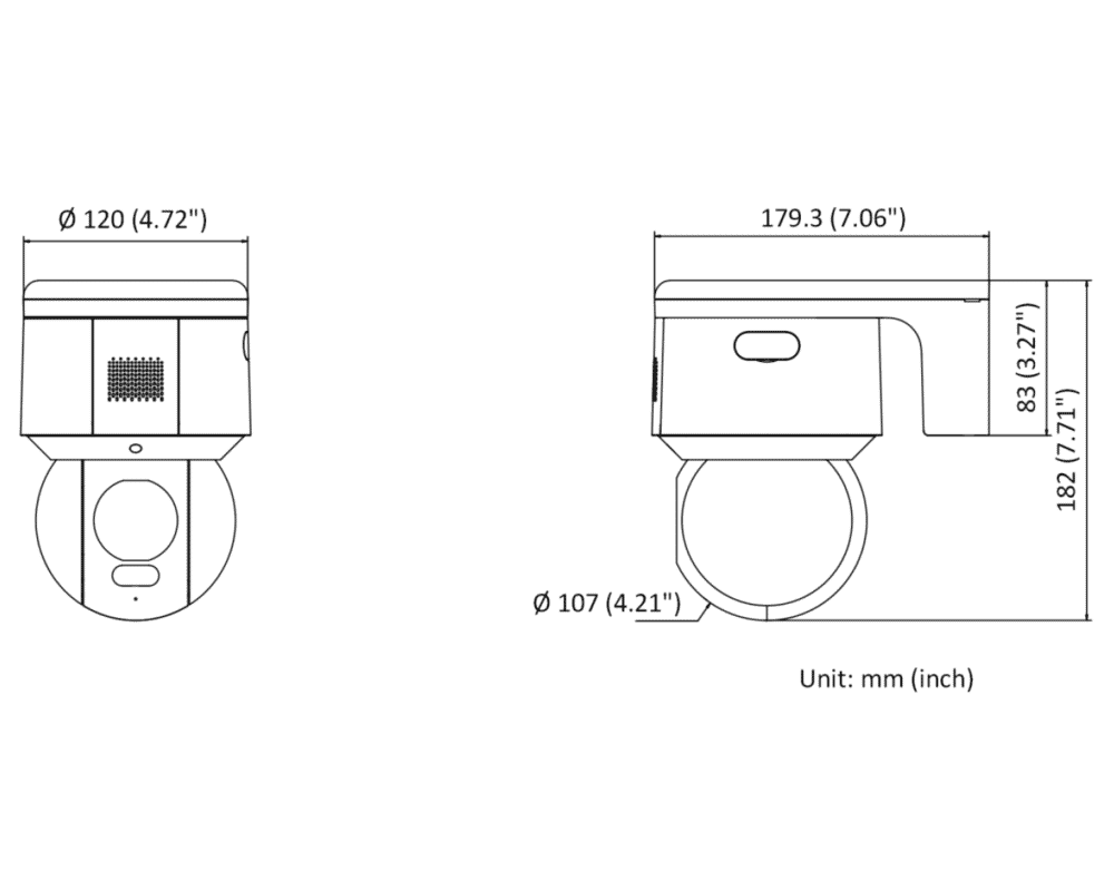 Hikvision DS-2DE3A400BW-DE 4MP IP Colorvu Acusense PT Dome