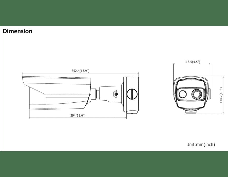 Hikvision DS-2TD2617-3/V1 2MP IP Thermal & Optical Bullet 3.1mm