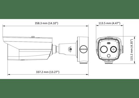 Hikvision DS-2TD2617 Eco Thermal Bi-spectrum HeatPro IP Bullet Camera