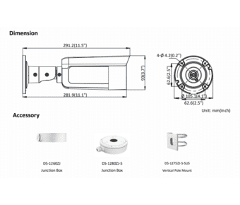 Hikvision DS-2CD2T47G1-L 4MP IP Colorvu Bullet 4.0mm
