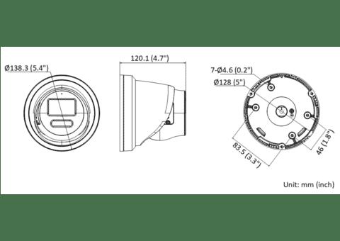 Hikvision DS-2CD2387G2-LU 8MP 4K IP Colorvu Acusense Audio Turret