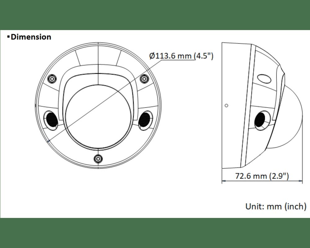Hikvision DS-2CD2547G2-LS 4MP IP Colorvu Acusense Mini Dome 2.8mm