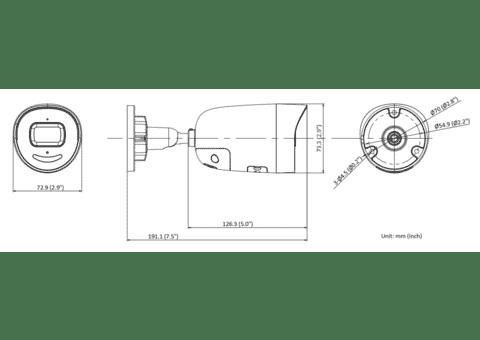 Hikvision DS-2CD2046G2-IU 4MP IP Acusense Mini Bullet 2.8mm