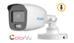 HiLook THC-B159-MS 5MP TVI ColorVu Mini Bullet with Audio 2.8mm