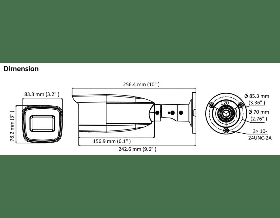 HiLook THC-B320-VF 2MP TVI Bullet 2.8-12mm VF