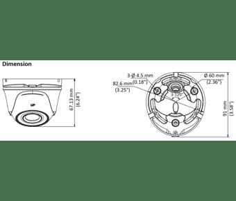HiLook THC-T123-M 2MP Low Light Mini Turret