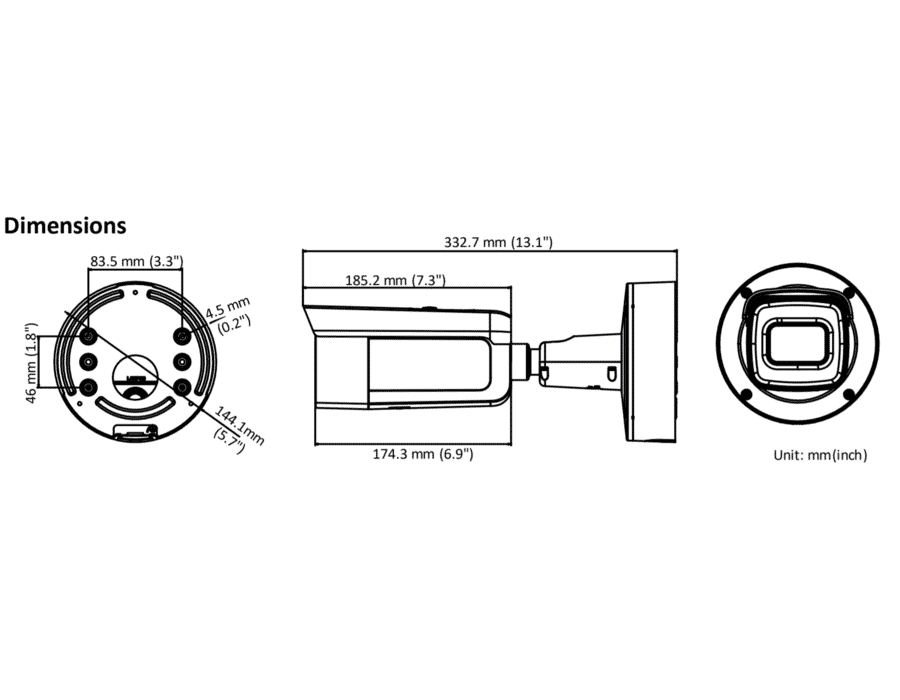 Hikvision DS-2CD2645FWD-IZS 4MP IP Bullet 2.8-12MM MFZ