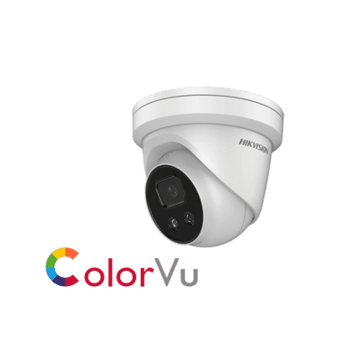 Hikvision DS-2CD2327G1-LU 2MP IP Colorvu Audio Turret 4.0mm