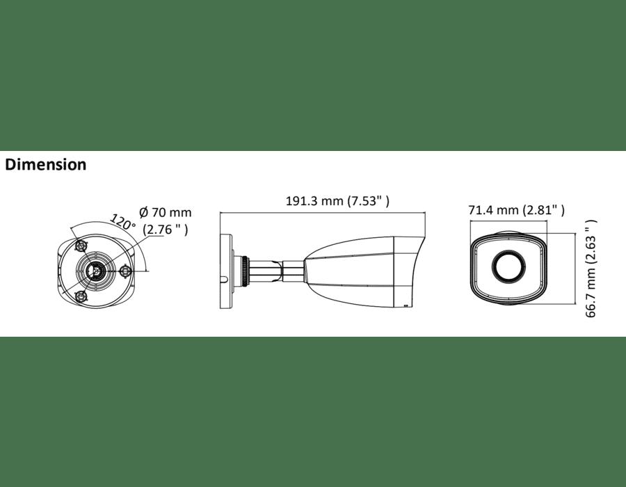 HiLook IPC-B150H-M 5MP IP Bullet Camera